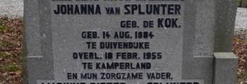 Overlijden Johanna van Splunter