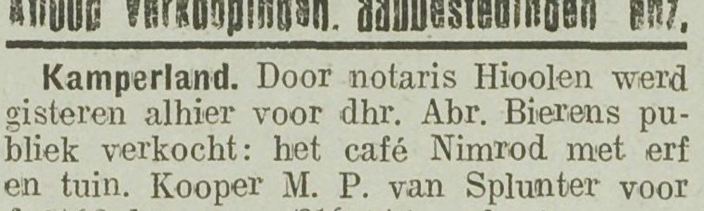M. van Splunter eigenaar Nimrod Veerweg 164