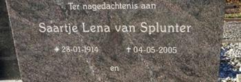 De laatste jaren van Saartje van Splunter